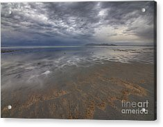 Stormy Clouds Over Antelope Island Acrylic Print