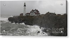 Acrylic Print featuring the photograph Stormy Coast by David Bishop