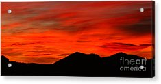 Stormy Colorado Sunrise Acrylic Print by Max Allen