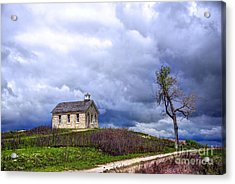 Stormy Day At Lower Fox Creek School Acrylic Print by Jean Hutchison
