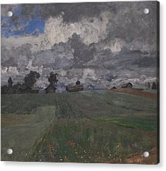 Stormy Day Acrylic Print by Isaac Levitan