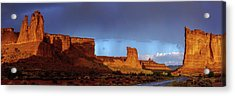 Acrylic Print featuring the photograph Stormy Desert by Chad Dutson