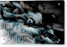 Stormy Emotions Acrylic Print by Abstract Angel Artist Stephen K