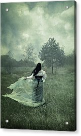 Stormy Fields Acrylic Print by Cambion Art