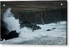 Stormy Irish Seas Acrylic Print by Nicole Robinson