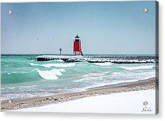 Stormy Lake Acrylic Print