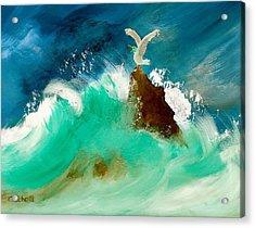 Stormy Landing Acrylic Print