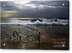 Stormy Morning At Collaroy Acrylic Print by Avalon Fine Art Photography