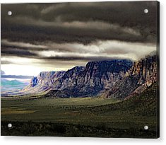 Stormy Morning In Red Rock Canyon Acrylic Print by Alan Socolik