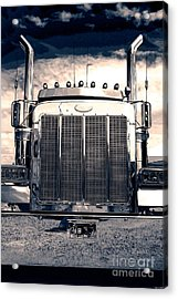 Stormy Night Peterbilt Acrylic Print