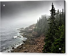 Stormy North Atlantic Coast - Acadia National Park - Maine Acrylic Print by Brendan Reals