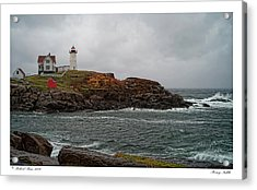 Acrylic Print featuring the photograph Stormy Nubble by Richard Bean