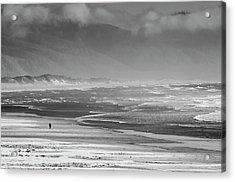 Stormy Oceanside Oregon Acrylic Print by Amyn Nasser
