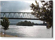 Stormy Ohio River Acrylic Print