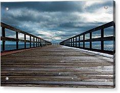 Stormy Pier  Acrylic Print