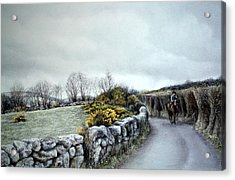 Stormy Ride On The Moor Acrylic Print