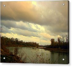 Stormy River Acrylic Print by Dottie Dees