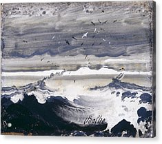 Acrylic Print featuring the painting Stormy Sea by Peder Balke