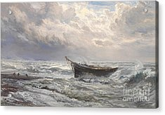 Stormy Seas Acrylic Print by Henry Moore