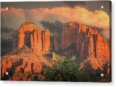 Stormy Sedona Sunset Acrylic Print