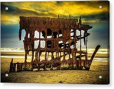 Stormy Shipwreck Acrylic Print by Garry Gay