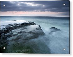 Stormy Shore Acrylic Print by Eric Foltz
