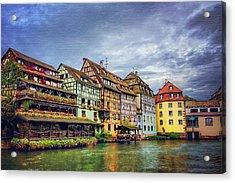Stormy Skies In Strasbourg Acrylic Print by Carol Japp