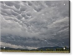 Acrylic Print featuring the photograph Stormy Skies In Wyoming by Sandra Bronstein