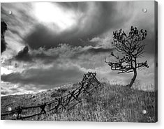 Stormy Sky At The Ranch Acrylic Print