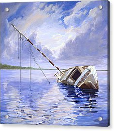 Acrylic Print featuring the painting Stormy Summer by AnnaJo Vahle