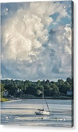 Stormy Sunday Morning On The Navesink River Acrylic Print by Gary Slawsky