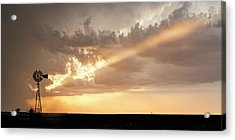 Acrylic Print featuring the photograph Stormy Sunset And Windmill 01 by Rob Graham