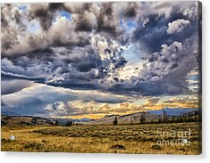 Stormy Sunset At Blacktail Plateau Acrylic Print