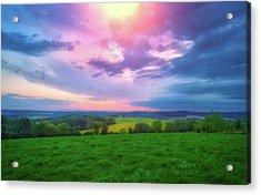 Stormy Sunset At Retzer Nature Center Acrylic Print by Jennifer Rondinelli Reilly - Fine Art Photography