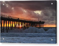 Stormy Sunset Acrylic Print by Ed Clark