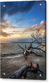 Acrylic Print featuring the photograph Stormy Sunset by Marvin Spates