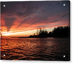 Acrylic Print featuring the photograph Stormy Sunset by Nancy Taylor