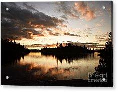 Stormy Sunset On Little Saganaga Lake Acrylic Print