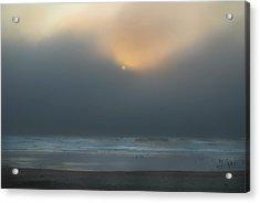 Acrylic Print featuring the photograph Stormy Sunset Oregon Coast by Yulia Kazansky