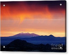 Acrylic Print featuring the photograph Stormy Sunset by Scott Kemper