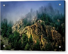 Stormy Wasatch- Fog Acrylic Print