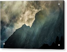 Stormy Wasatch- Rays Acrylic Print