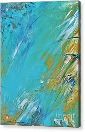 Acrylic Print featuring the painting Stormy Weather by Diana Bursztein