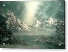 Stormy Winter Acrylic Print by John Koehler