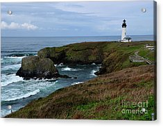 Stormy Yaquina Head Lighthouse Acrylic Print