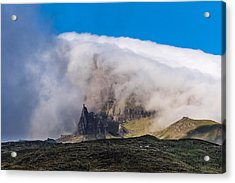 Acrylic Print featuring the photograph Storr In Cloud by Gary Eason