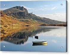 Acrylic Print featuring the photograph Storr Reflection by Grant Glendinning