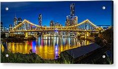 Story Bridge- Brisbane Queensland Acrylic Print by Mark Lucey