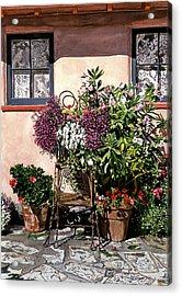 Storybook Cottage Carmel Acrylic Print by David Lloyd Glover