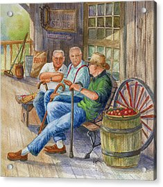 Acrylic Print featuring the painting Storyteller Friends by Marilyn Smith